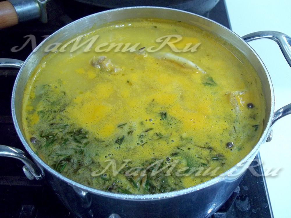 Суп с шампиньонами на курином бульоне рецепт с пошагово в