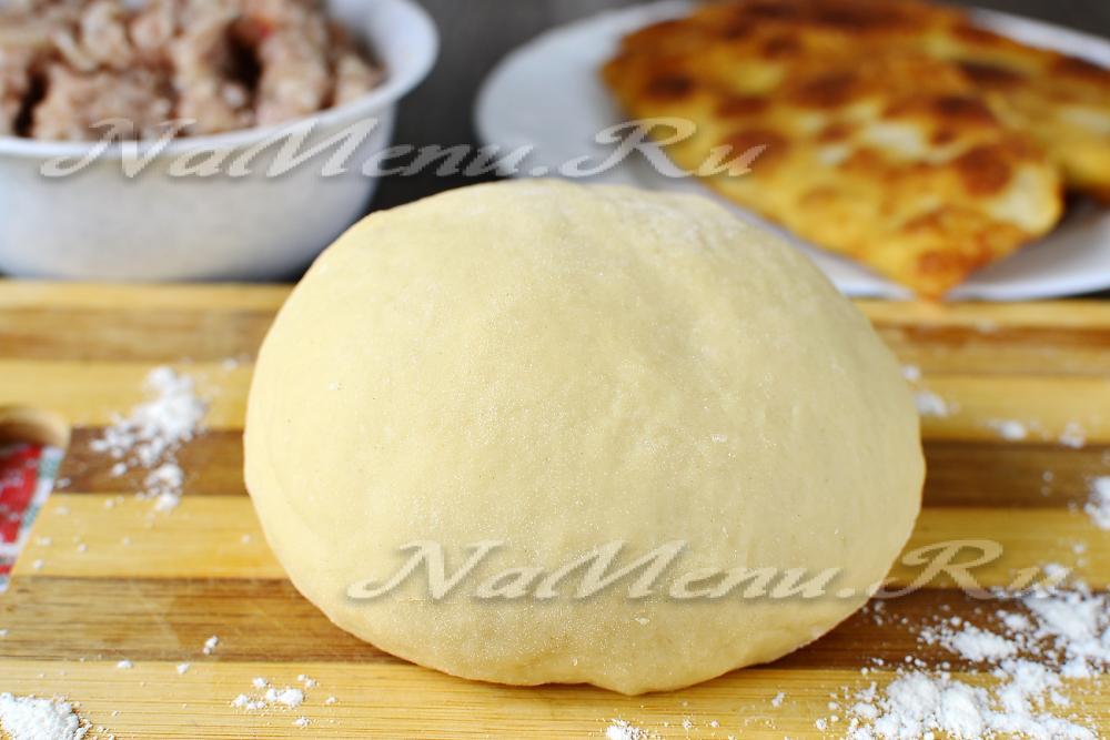 Тесто на чебуреки на кипятке рецепт пошагово
