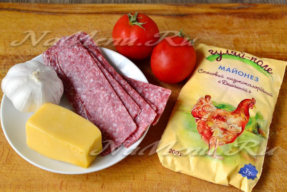 рецепты салатов фото крабовые и колбаса