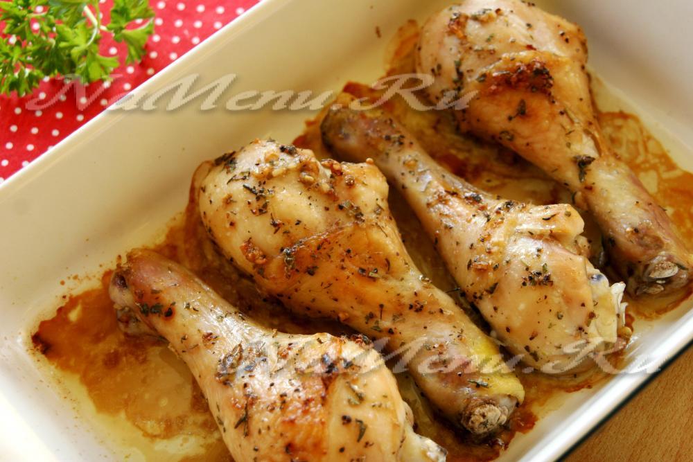 Фото рецепт куриные ножки в духовке