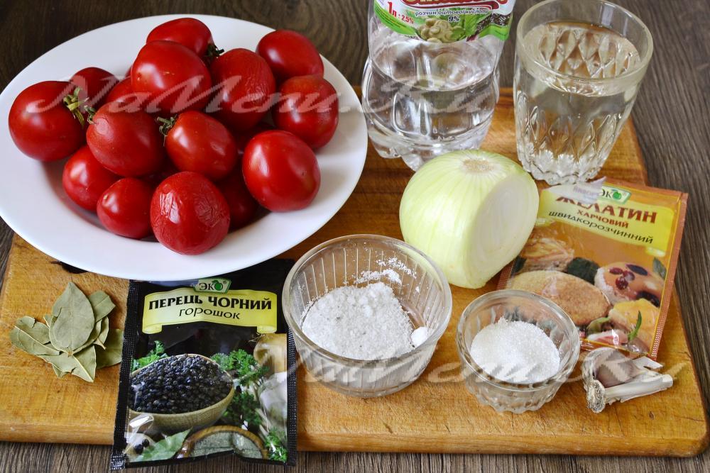 рецепт приготовления помидоров в желе