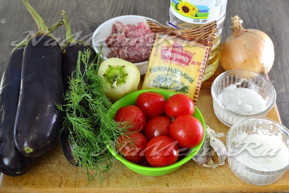 Фарш с помидорами и сыром в духовке