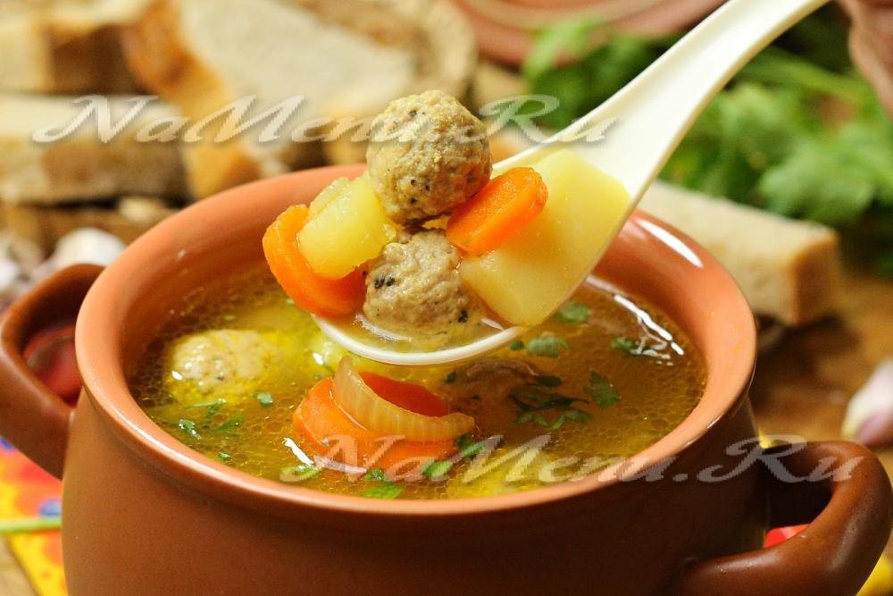 Суп с фрикадельками без картошки пошаговый рецепт
