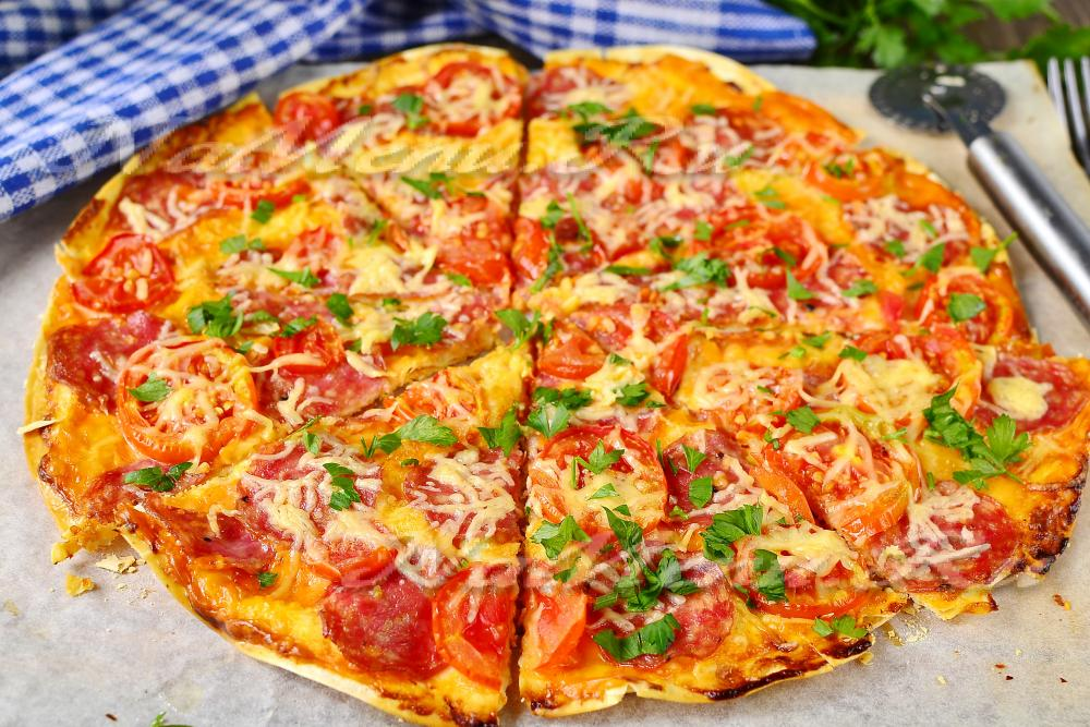 пицца в лаваше рецепт на сковороде