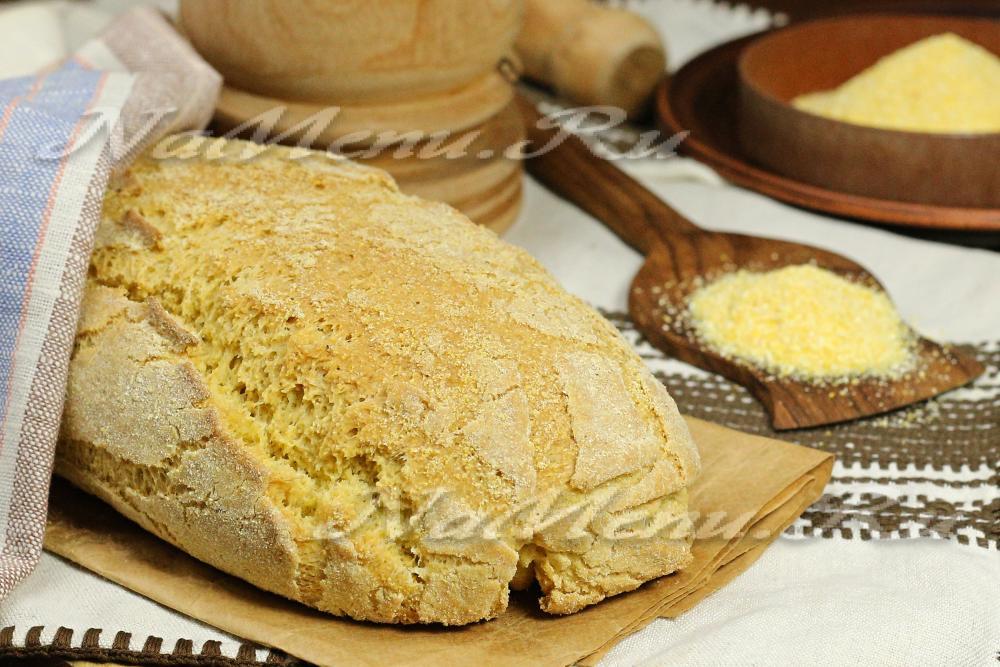 Хлеб из пшеничной муки в духовке с фото