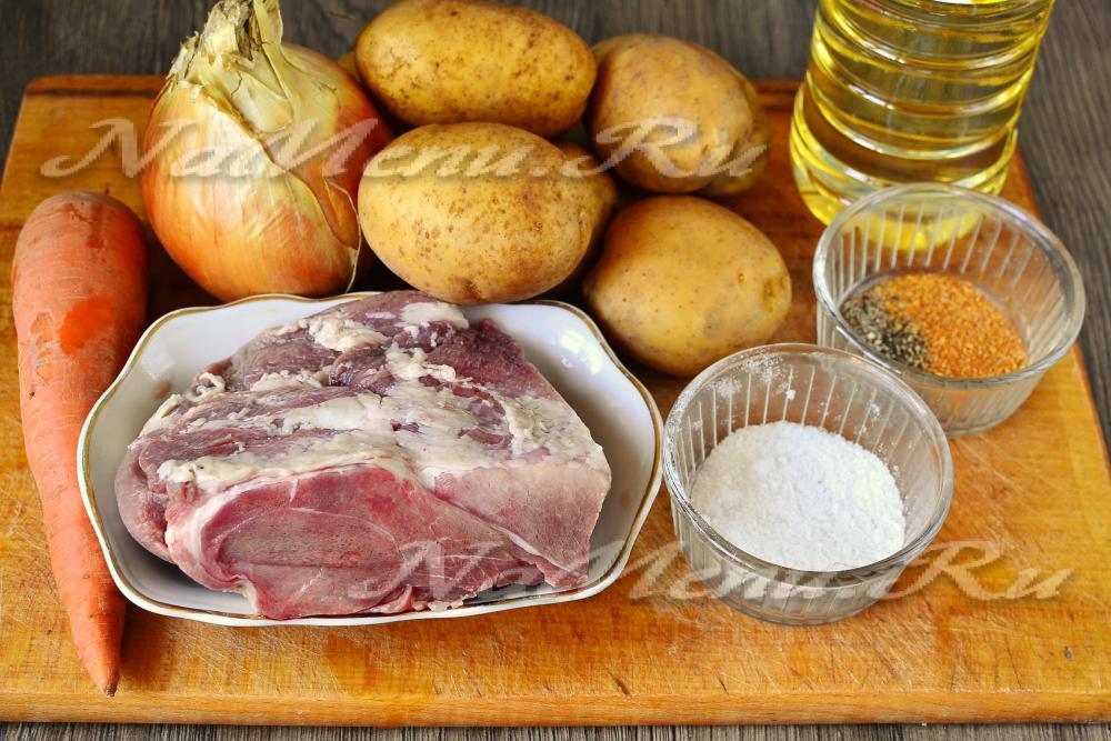 рецепт вкусной картошки с мясом в кастрюле