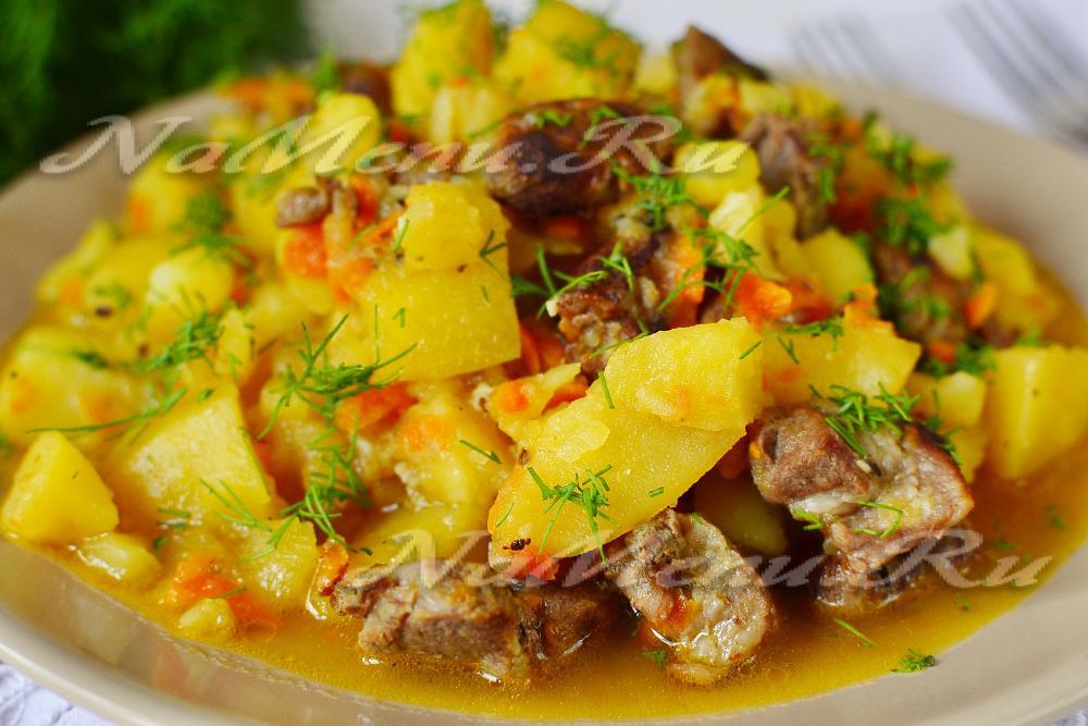 мясо говядина с картошкой в мультиварке рецепты с фото