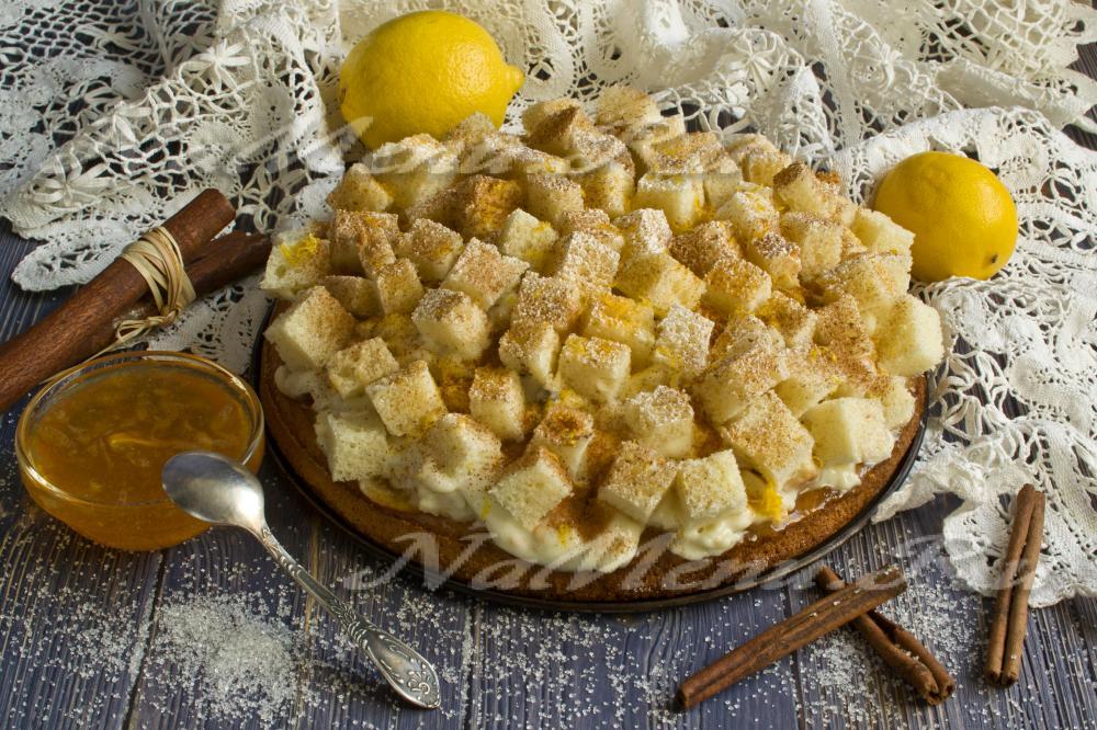 рецепт бисквитного торта с заварным кремом
