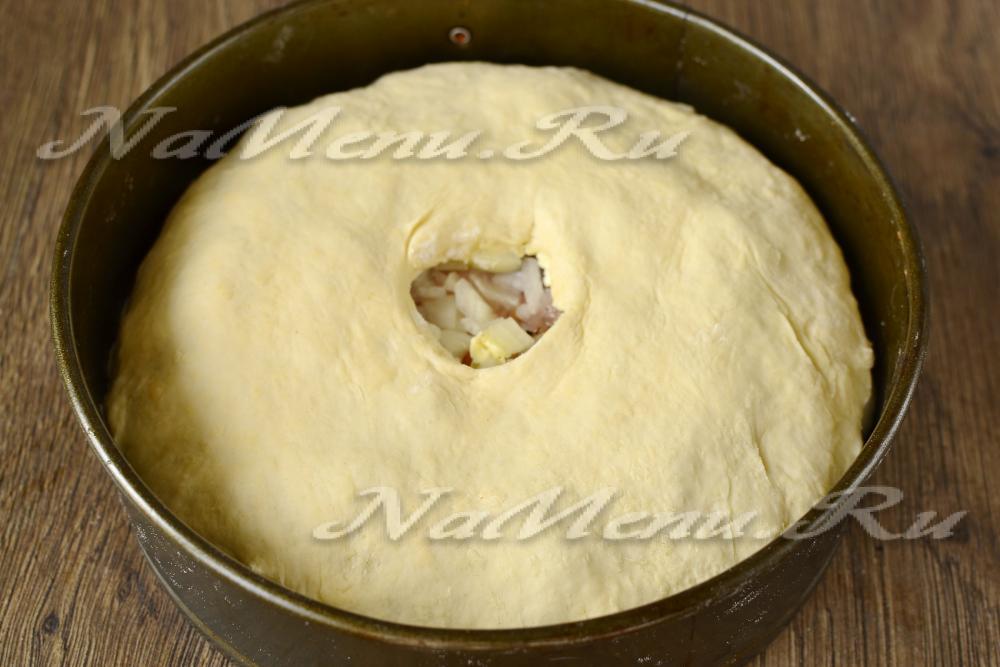 Курник из курицы с картофелем пошаговый рецепт из молока
