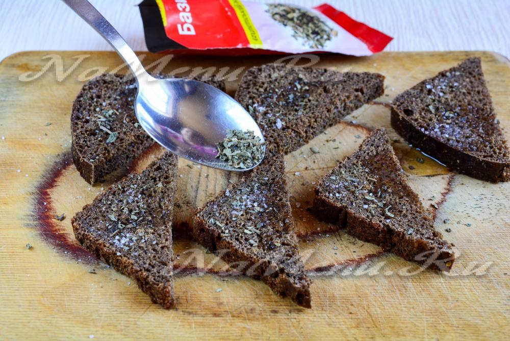 Хлеб жареный с чесноком рецепт с фото пошагово