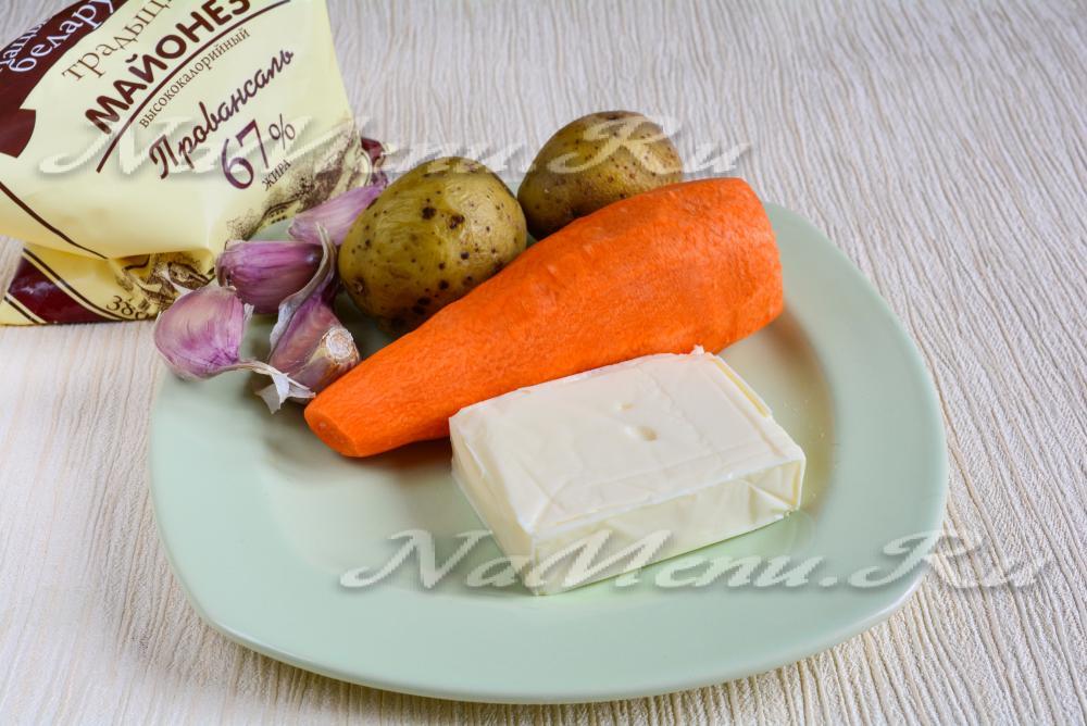 Салат варежка деда мороза рецепт с фото