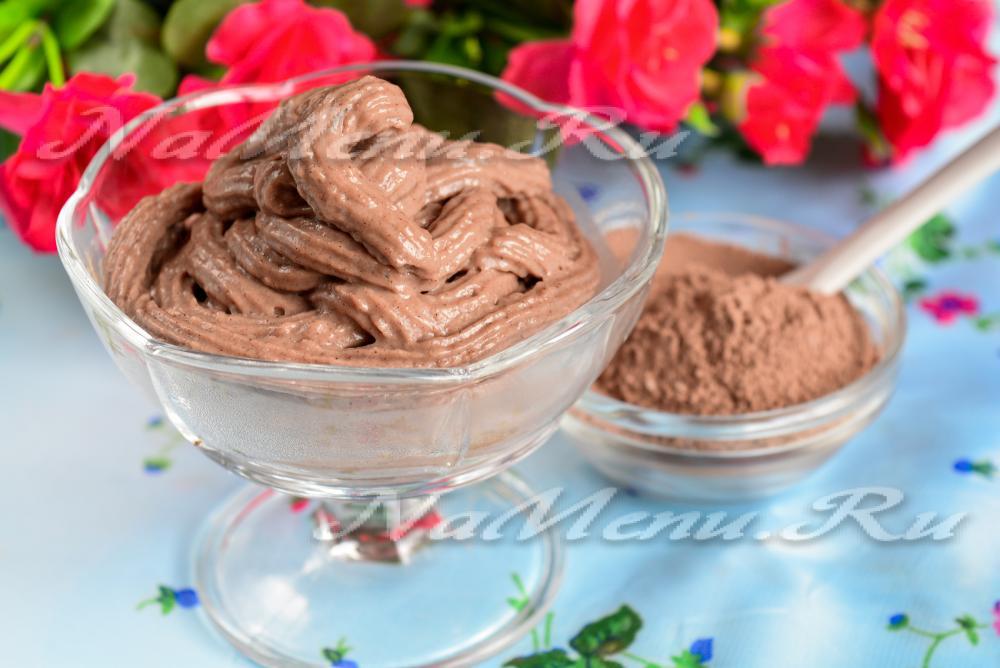 Шоколадный крем для торта из какао порошка рецепт с фото