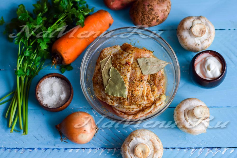 грибы в духовке рецепт с фото пошагово в