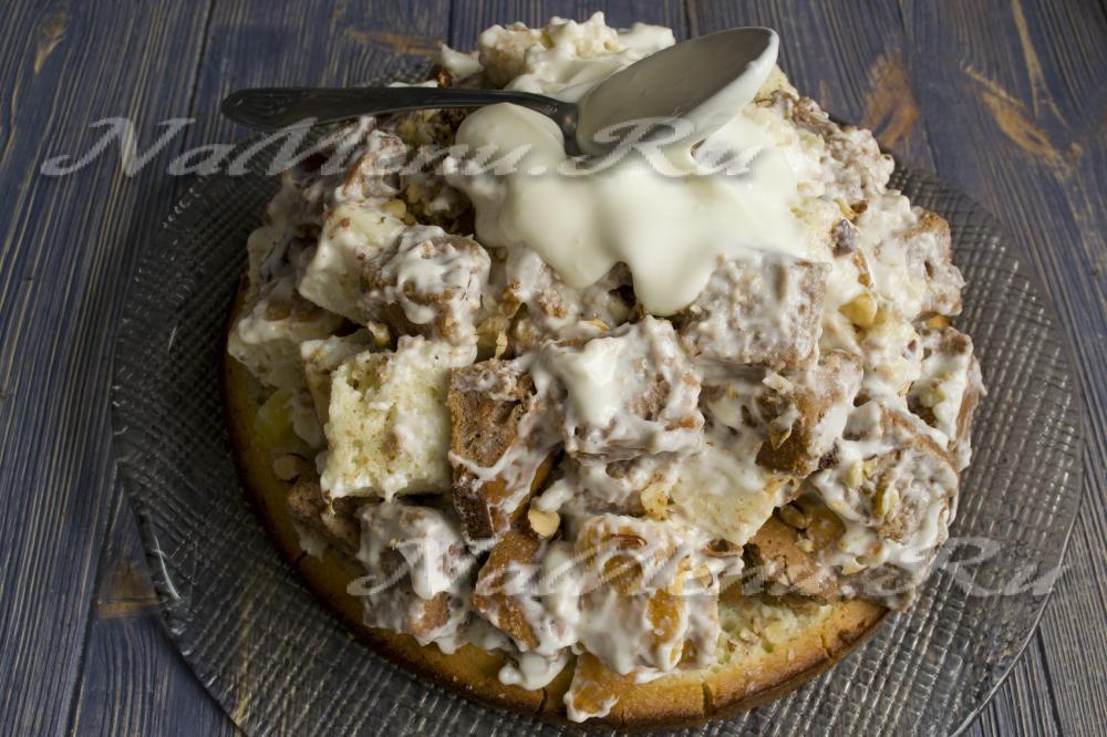 Торт графские развалины с ананасами пошаговый рецепт с