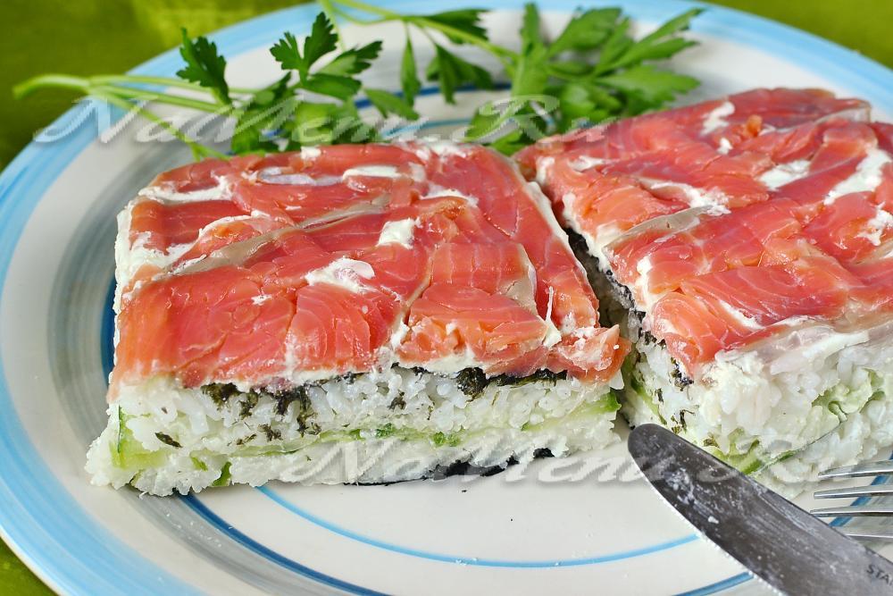 суши торт в домашних условиях пошаговый рецепт с фото