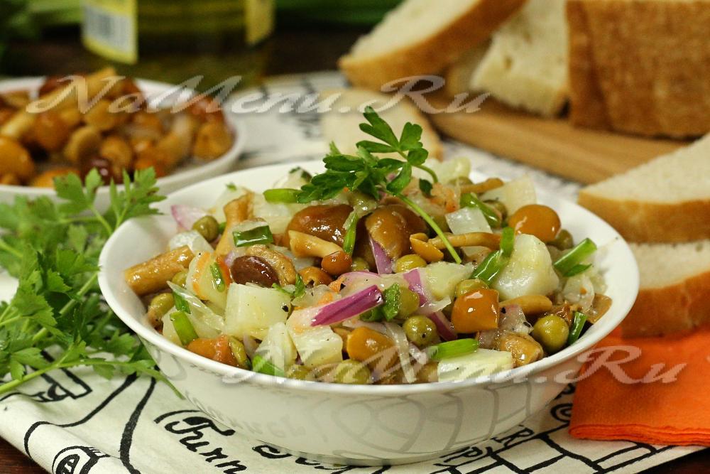 Салат из солёных грибов рецепты