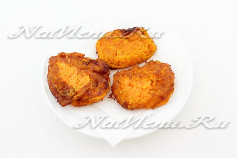 Морковные оладьи рецепт пошагово