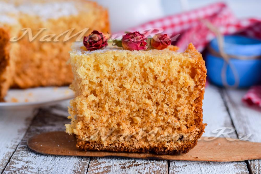 Торт медовый бисквитный со сметанным кремом фото