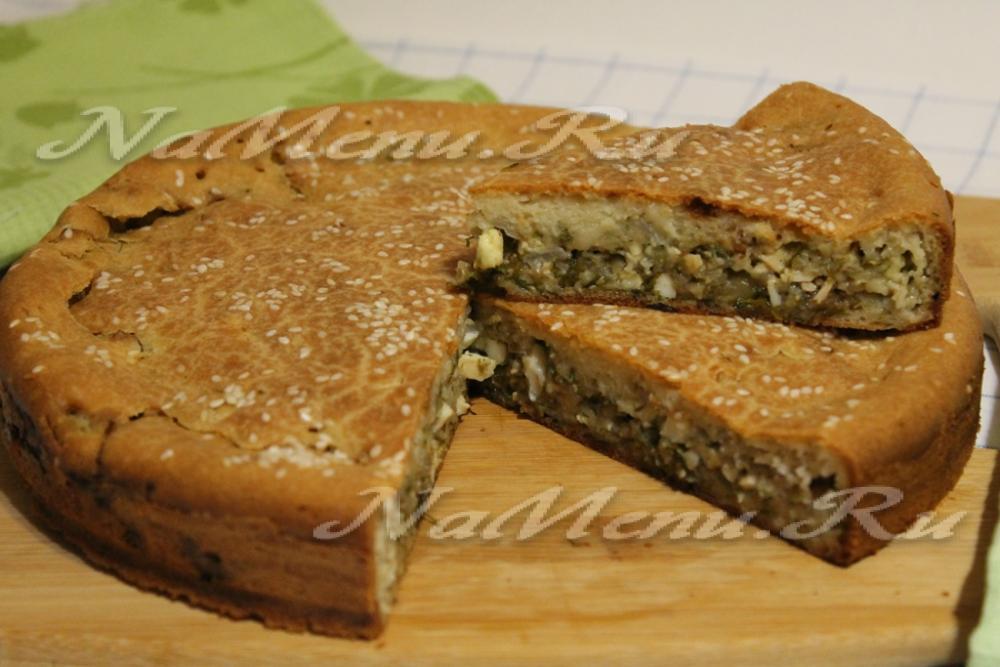 Заливные пироги в духовке рецепт