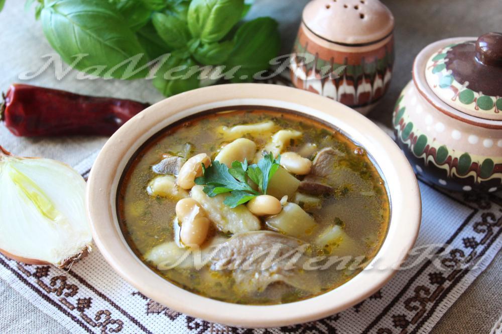 рецепт постного супа с белыми грибами