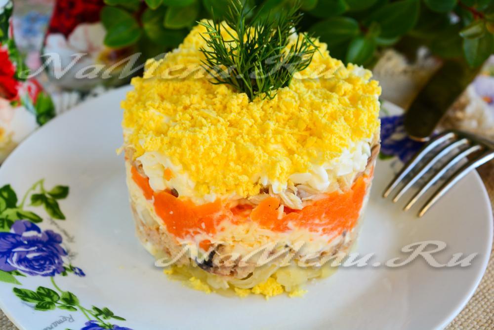 Рецептура салата мимоза