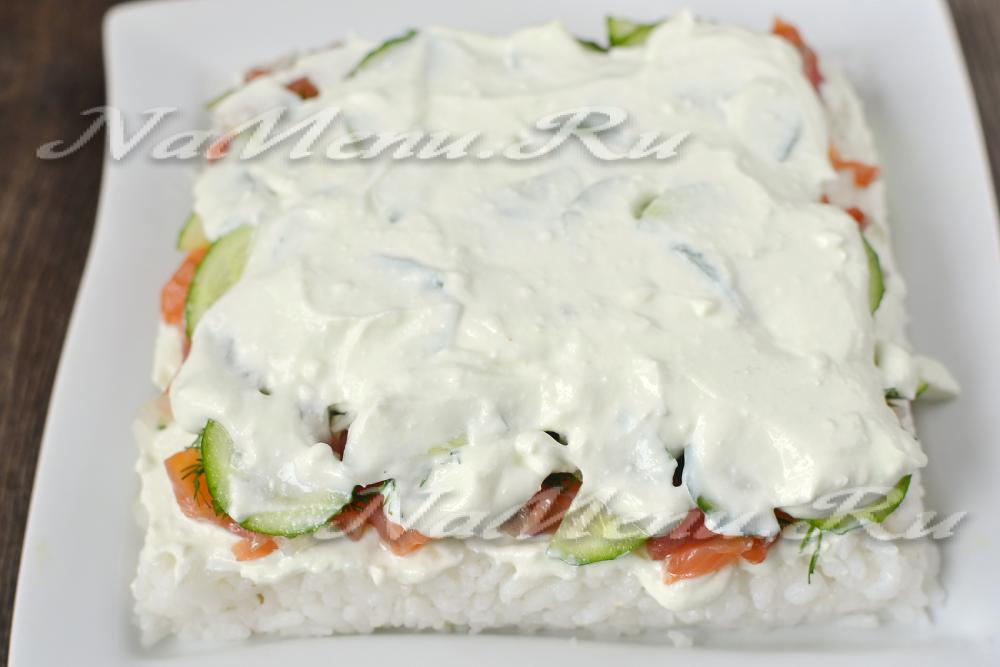 Суши салат слоями рецепт