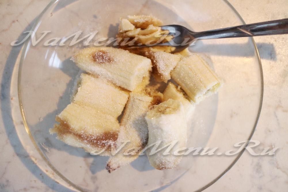 Постный банановый пирог рецепт пошагово
