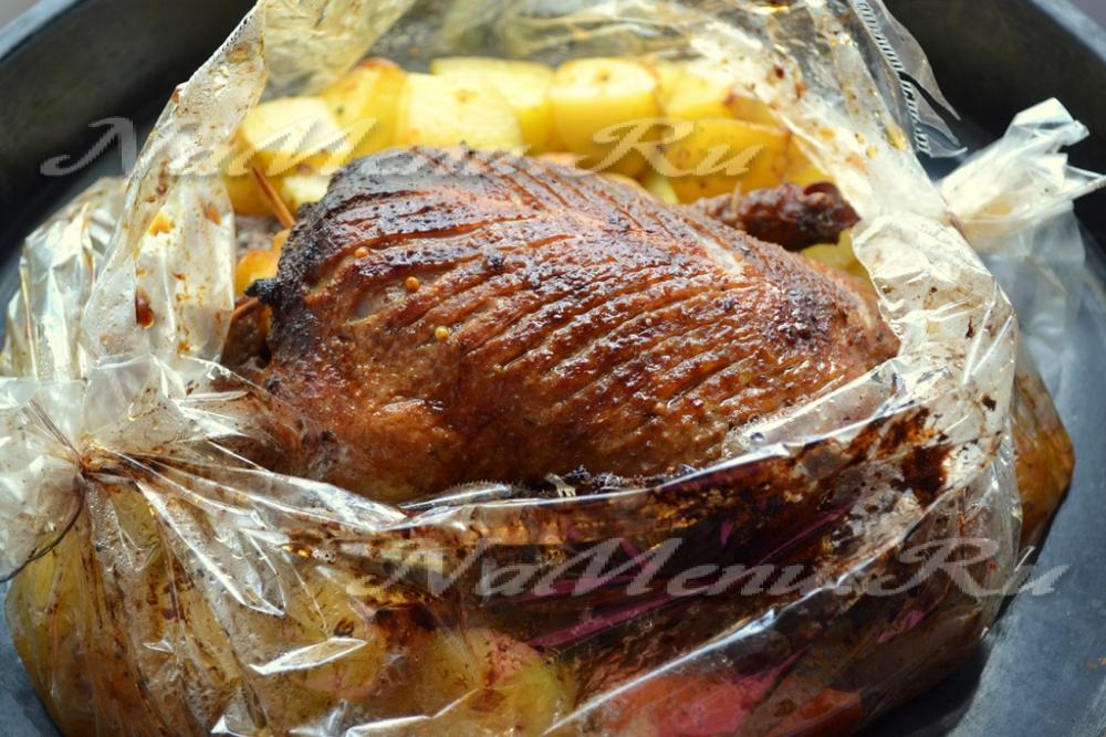 Утка в пакете в духовке пошаговый рецепт
