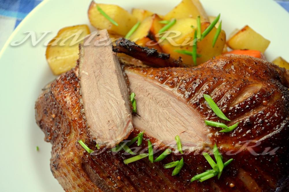 утка с картошкой и яблоками в духовке фото рецепт