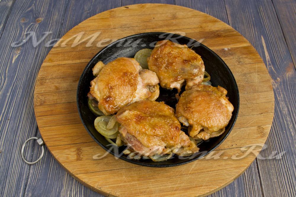 Бедро курица в духовке с корочкой с фото