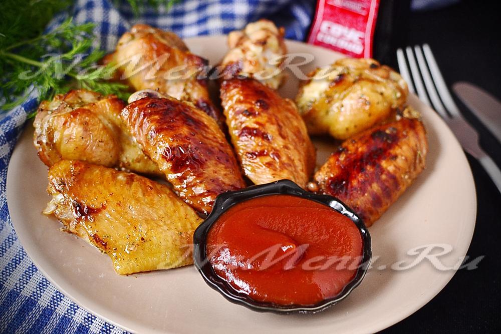 Крылышки в духовке рецепты с кетчупом