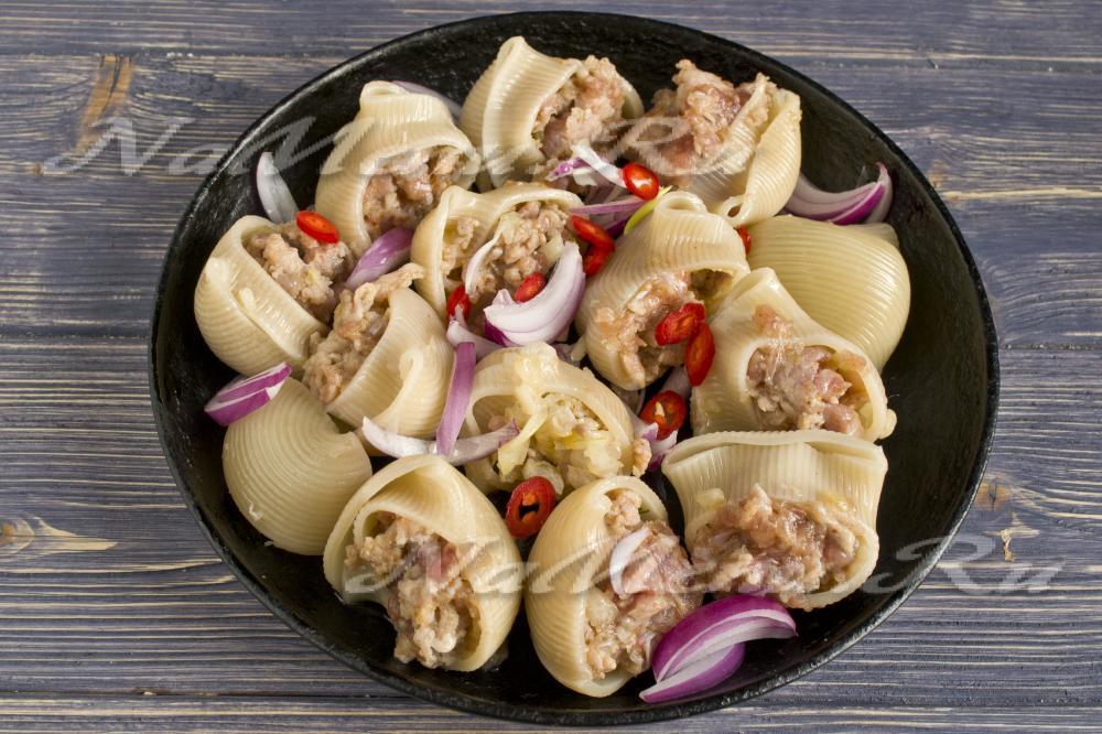 макароны ракушки в духовке рецепт с фото