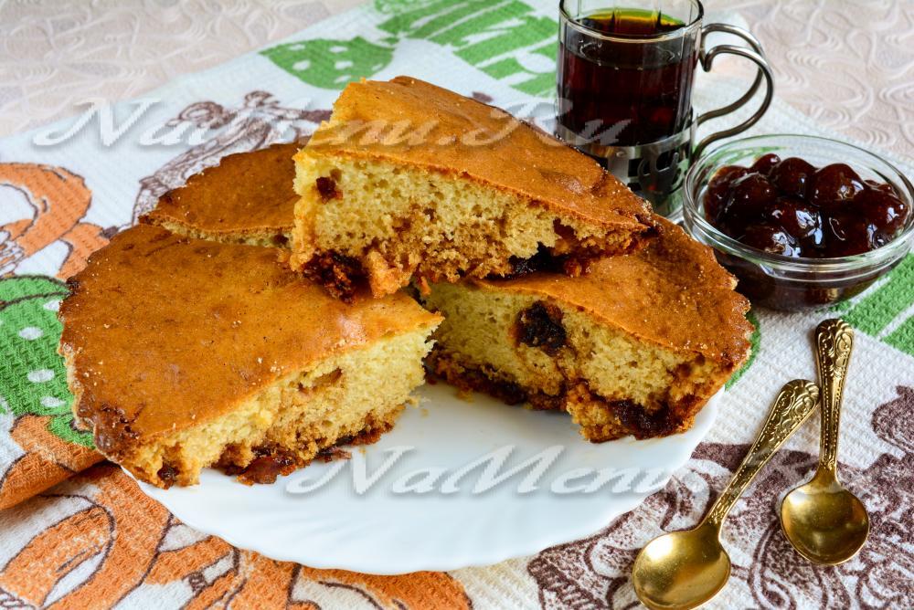 Заливной пирог вареньем рецепт фото