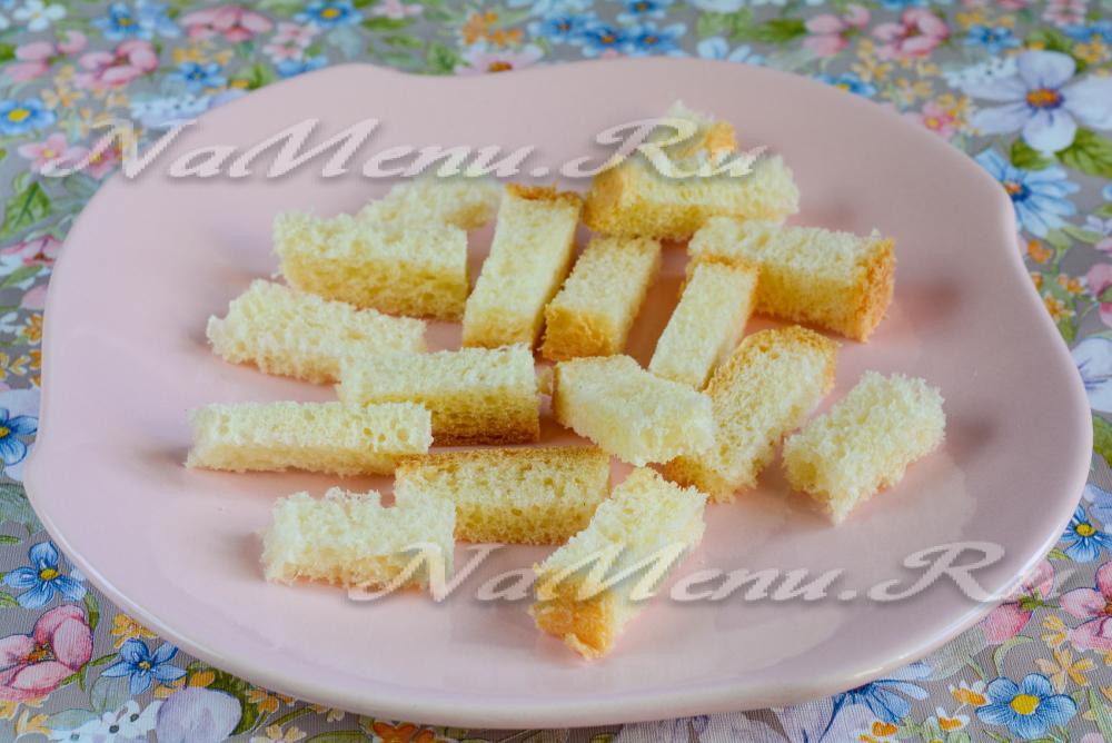 Сухарики из белого хлеба для салата в духовке рецепт