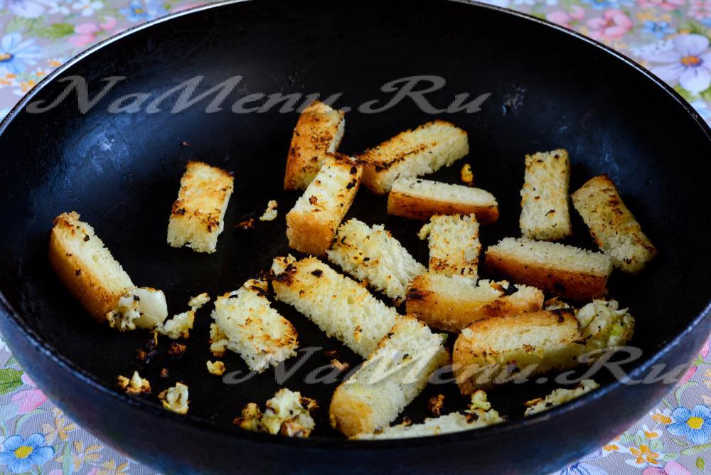 Сухарики из белого хлеба в духовке рецепт калорийность