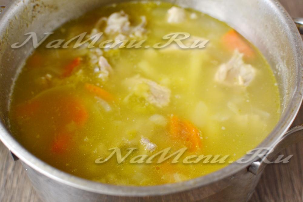 гороховый суп со свининой и копченой колбасой рецепт