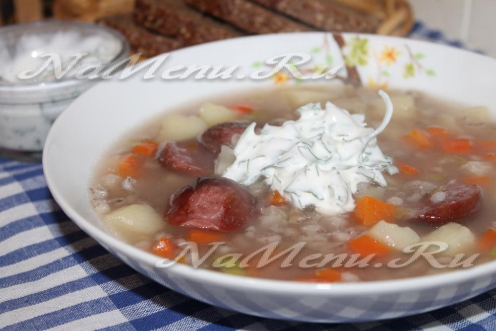 Рассольник с колбасой рецепт классический пошаговый рецепт с фото