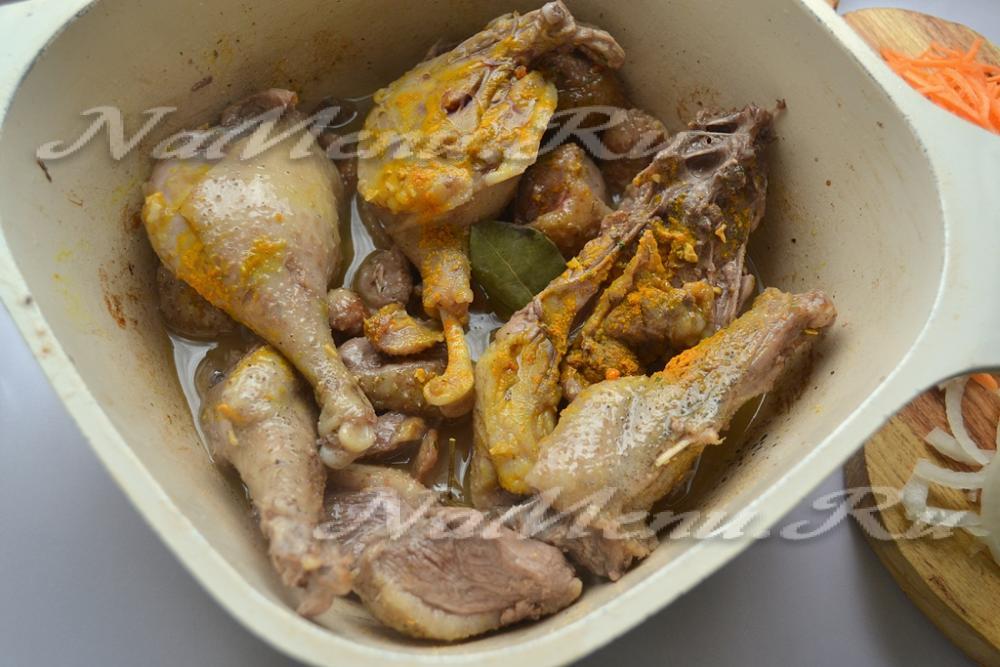 Рецепт утки в казане