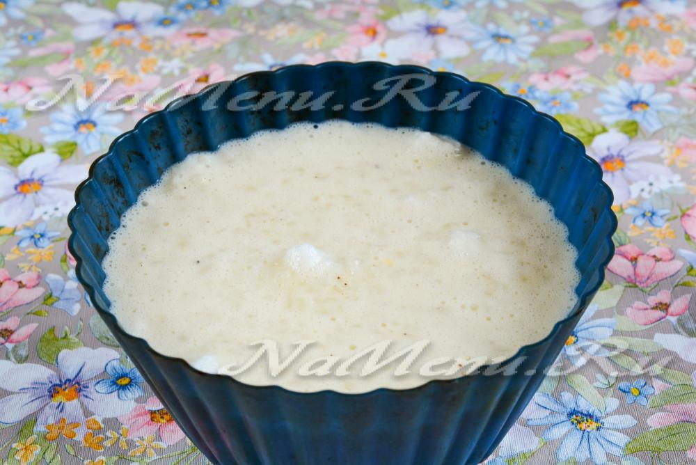 Рисовый пудинг с пошаговым
