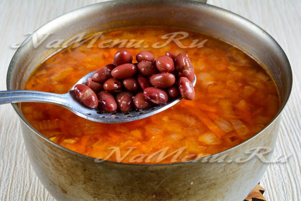 Фасолевый суп фасоли рецепт фото