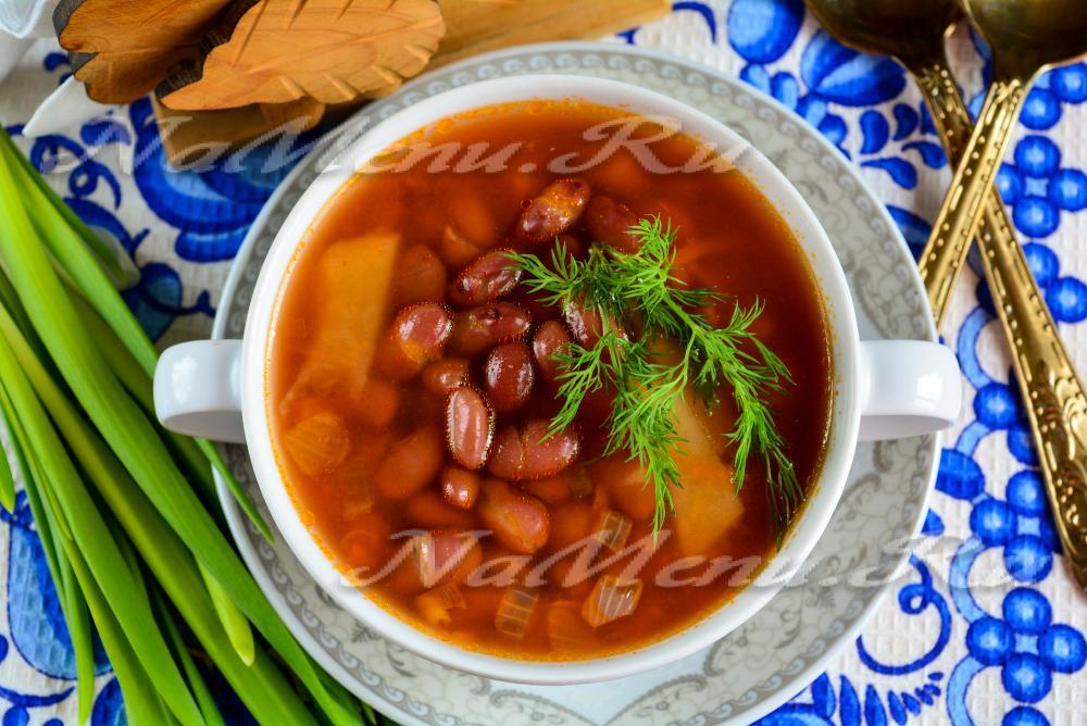 Куриный суп с фасолью красной рецепт