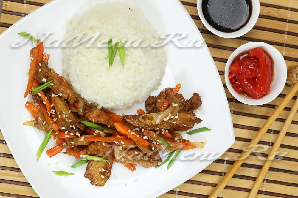рецепт курица с овощами под соусом терияки рецепт с фото