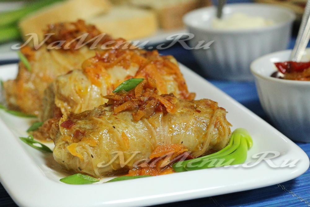 Голубцы пекинская капуста рецепт пошагово с