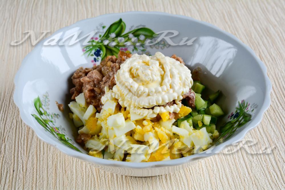 Рецепты перемешанных салатов с