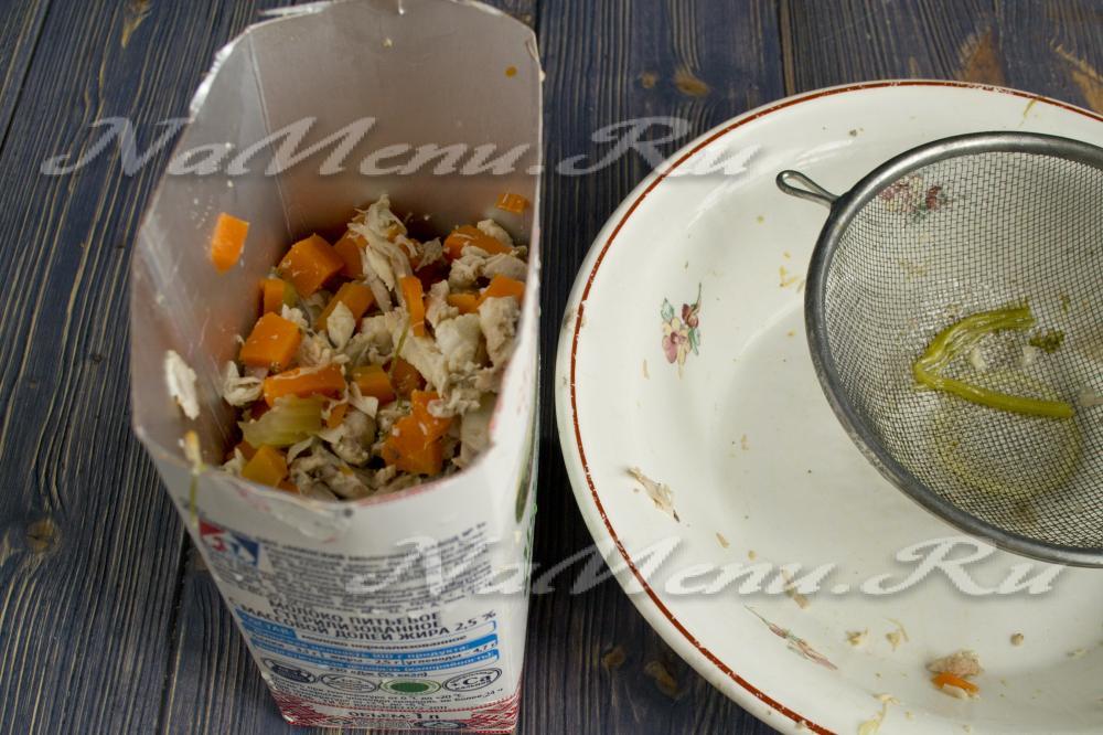 Куриный рулет в тетрапаке рецепт с фото