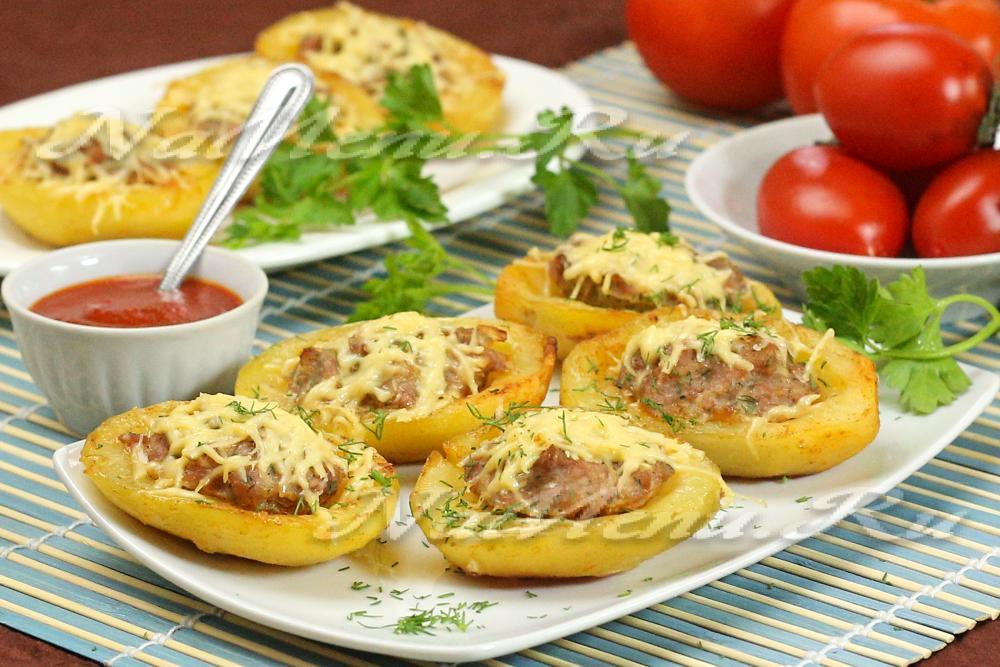 Рецепт фаршированный картофель с фаршем в духовке 156