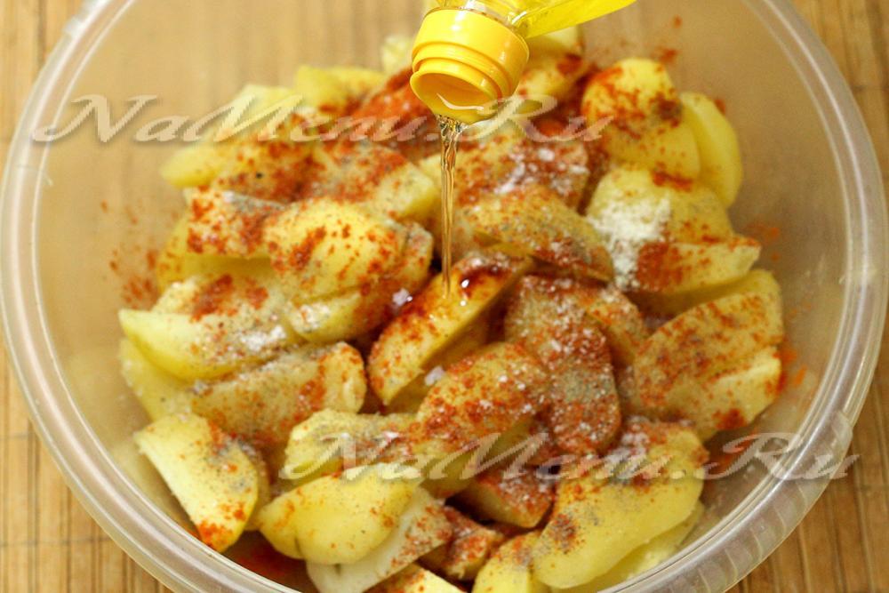 курица с картошкой в духовке с майонезом и сыром рецепт с фото