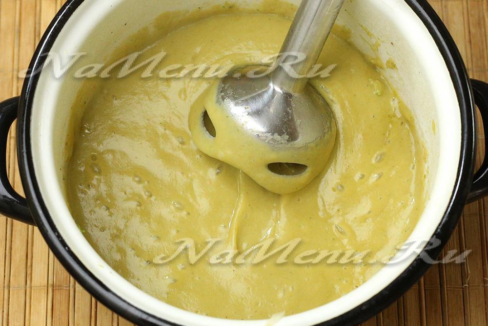 Суп пюре погружным блендером