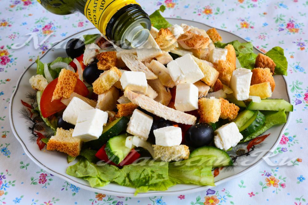 Греческий с курицей в домашних условиях рецепт  335