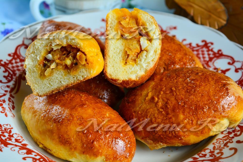 Пирожки с луком и яйцом в духовке пошаговый рецепт с на молоке
